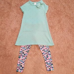 Gymboree dress & Oshkosh leggings